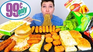 My First Time Trying 99 Cent Store Food • MUKBANG