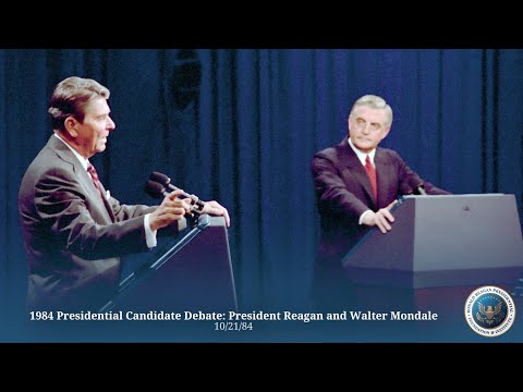 1984 Presidential Candidate Debate: President Reagan and Walter Mondale - 10/21/84