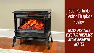 Portable Electric Fireplace Review - Black Portable Electric Fireplace Stove Infrared Heater