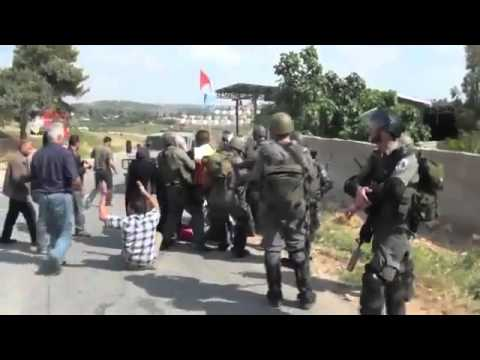 Israeli army treatment  of Palestinian women and foreigners
