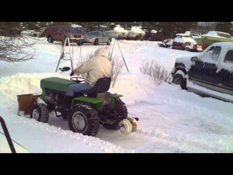 1970 Ariens Lawn Tractor Hydro Plowing Snow