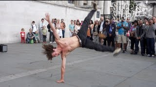 B-boy dancers perform in London