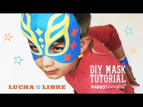 Printable Lucha Libre mask tutorial + easy costume idea!