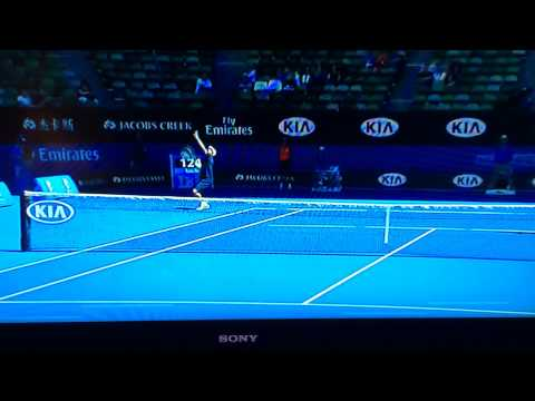 Leander Paes behind the back volley might be the shot of the Australian Open 2015!! (Tennis channel)