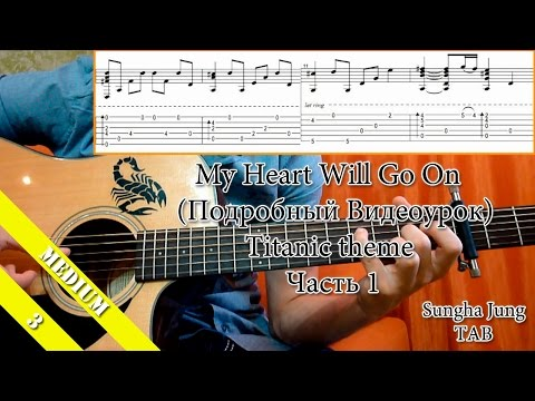 как играть титаник на гитаре видео