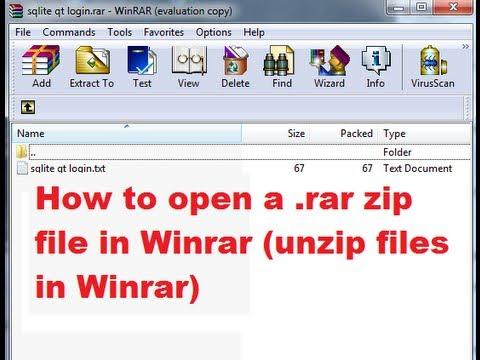 How to open a .rar zip file in Winrar (unzip files in Winrar)