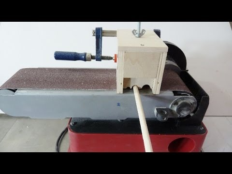 Making dowels with belt sander