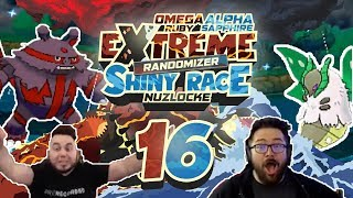 WHICH IS BETTER? NEW SHINIES & GYM LEADER! Pokemon ORAS Extreme Randomizer Shiny Race Nuzlocke Ep 16
