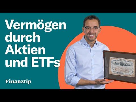 Ein Vermögen aufbauen mit Aktien in ETFs