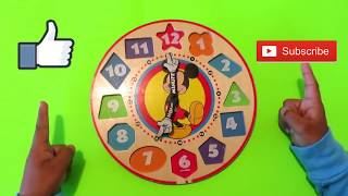 Telling Time For Children - Learning the Clock| Learn Color & Shapes