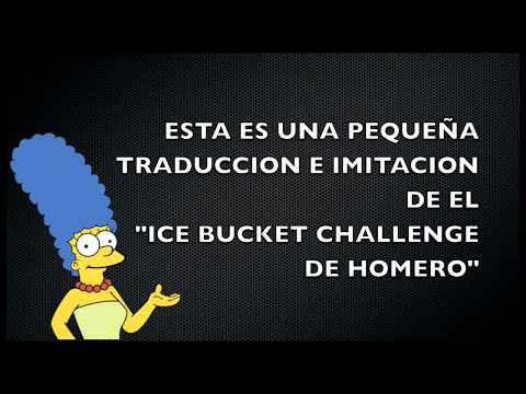 ICE BUCKET CHALLENGE HOMERO SIMPSON AUDIO LATINO