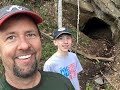 Exploring a flooded abandoned gold mine in Dahlonega, Ga.