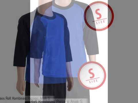 Kaos Polos Kaos Kombinasi Panjang Anak S