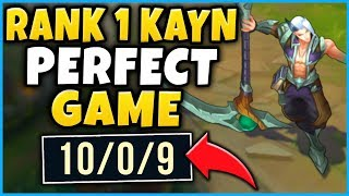 #1 KAYN WORLD'S PERFECT CHALLENGER GAME! THEY GAVE UP & WENT AFK! - League of Legends