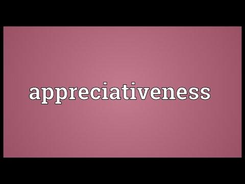 Header of appreciativeness