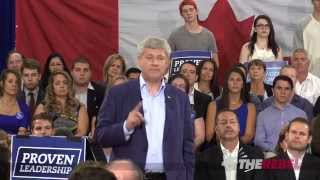 Harper hits back at Liberal, NDP deficit comments