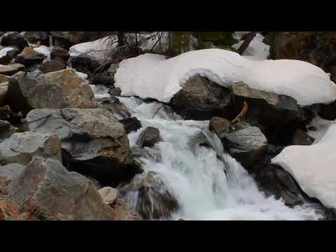 Calming Winter Waterfall. Cold Water Relaxing Sounds. (10 hours) White Noise for sleep.