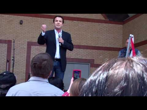 Rick Mercer at the London Vote Mob, April 30