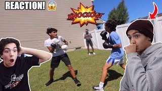 I BOXED MY HIGH SCHOOL BULLY REACTION! (WITH MY SCHOOL BULLY)
