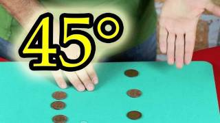 45° 6 coins from hand to hand