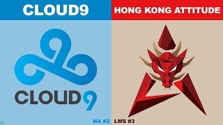 C9 vs HKA - Worlds 2019 Group Stage Day 2 - Cloud9 vs HK Attitude