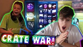 HUGE MYSTERY DECAL WAGER CRATE WAR! | W/ JoshuaSoccerGamer | Rocket League