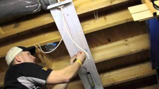 Installing Overhead T8 Light Fixtures