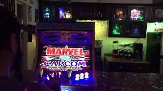 "19"" Ms Pac-Man Bartop Arcade, Marvel Vs Capcom Gameplay 2"