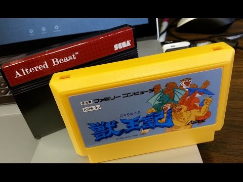 Classic Game Room - Altered Beast Review For Nintendo Famicom video