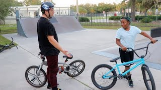 NOT DESTROYING A KID'S BIKE BUT STILL GIVING HIM A BRAND NEW ONE!!