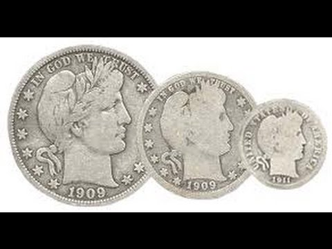Rare Barber coins 1897 half dollar and 1893 quarter