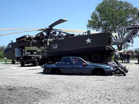 car crushing russell military museum.MPG