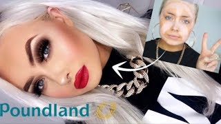 Full Face Testing POUNDLAND MAKEUP | One Brand Tutorial