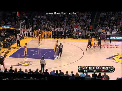 LeBron James (39Pts) Dwyane Wade (27Pts) vs Lakers (2013.01.17)