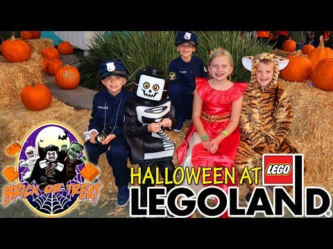 Trick-or-Treating at Legoland! Brick-or-Treat