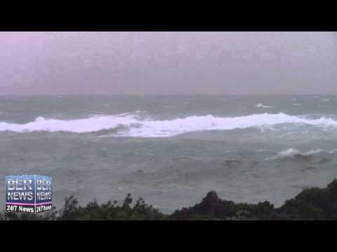 Hurricane Gonzalo Approaches Bermuda, October 17 2014