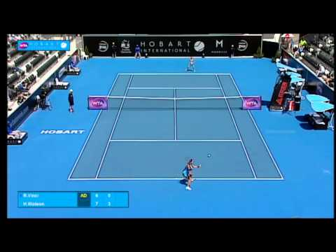 Roberta Vinci v Heather Watson: Match Highlights (QF) - Hobart International 2015