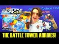 THE BATTLE TOWER ARRIVES! QR CODES REVIEW + BATTLES  BEYBLADE BURST EVOLUTION