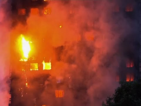 Massive High-Rise Building Fire in London