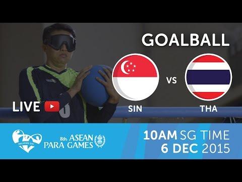 Goalball Women's Singapore vs Thailand   8th ASEAN Para Games 2015