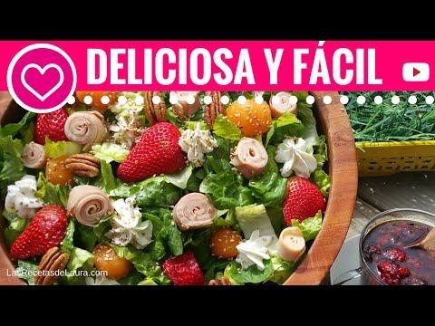 Ensalada Verde con Mango y Fresas♥Recetas de San Valentín♥Green Salad with Mango