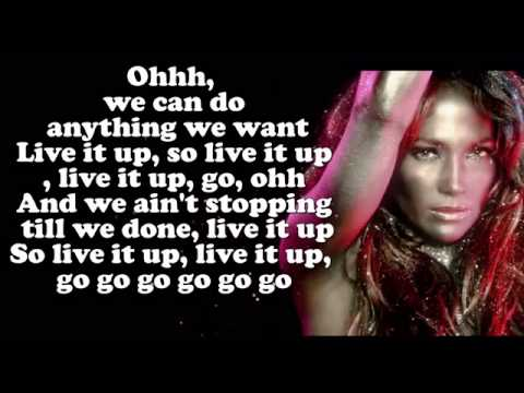 Jennifer Lopez  ft Pitbull - Live It Up (Lyrics)