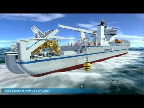 Repair Animation - Undersea Fiber Optic Cable System.