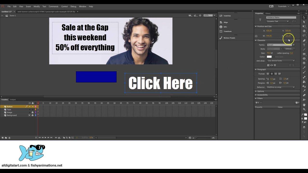 Как создать и разместить флеш баннер на сайте