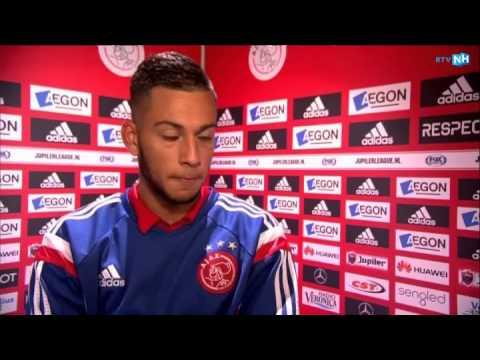 Ricardo Kishna na de winst met Jong Ajax tegen Sparta