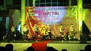 Cuoc thi nu sinh thanh lich Đại học hải Phòng nam 2010 (erobic)