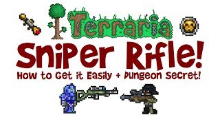 Terraria SNIPER RIFLE! How to get, farm, find a Sniper Skeleton, max damage build/loadout & scope!