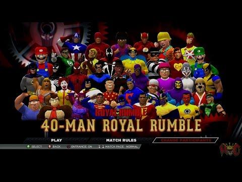 WWE 2K15 West Coast Caws 40 Man Royal Rumble
