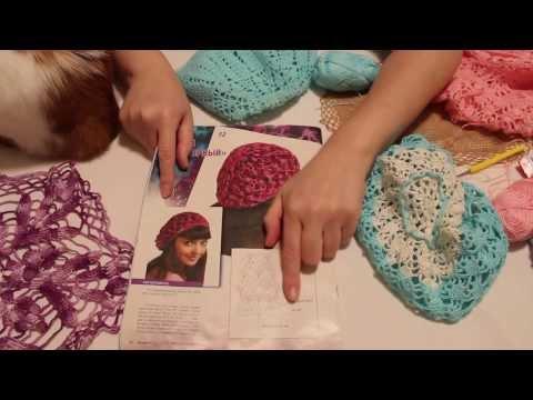 Видео как связать берет