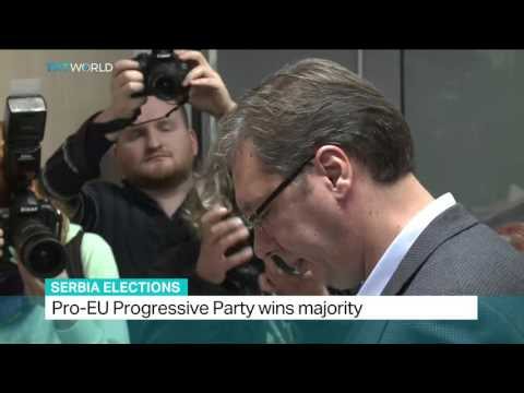 Ruling party claims victory in Serbia's general election, Aljosa Milenkovic reports